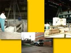 B3 Bilder zeigen die Demontage eines Betonriegels